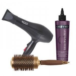 Buy Wizer Professional Hair Dryer + Olivia Garden NanoThermic Ceramic + Ion Brush + Osmo Blow Dry Potion Heat Acitvated Styler - Nykaa