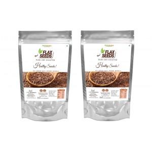 Buy NutroActive Roasted Flax Seeds (Pack Of 2) - Nykaa