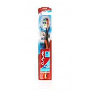 Buy Colgate 360 Floss Tip Toothbrush - Medium - Nykaa