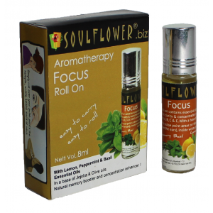 Buy Herbal Soulflower Aromatherapy Focus Roll On - Nykaa