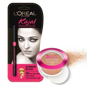 Buy Herbal L'Oreal Paris Mat Magique All-In-One Pressed Powder + Free Kajal Magique - Nykaa