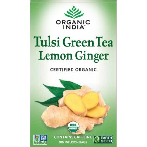 Buy Organic India Tulsi Lemon Ginger Green Tea (Stress Reliveing & Exhilarating) - Nykaa
