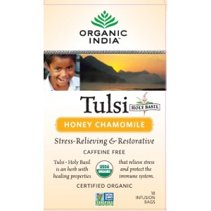Buy Herbal Organic India Tulsi Honey Chamomile Tea (18 Tea Bag) - Nykaa