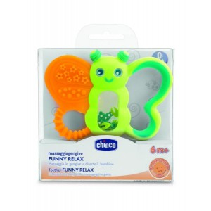 Buy Chicco Funny Relax Teether Butterfly Green (6M+) - Nykaa