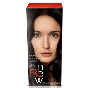 Buy Godrej Renew Crème Hair Colour - Natural Black (50 ml) - Nykaa