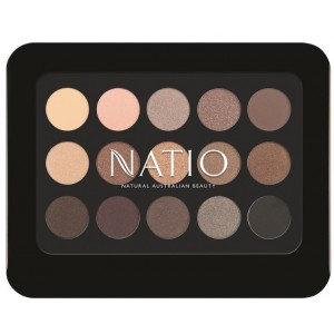 Buy Natio Natural Shades Eyeshadow Palette - Golden - Nykaa