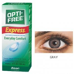 Buy Freshlook 30 Day Lens Gray + Free 120ml Lens Solution - Nykaa