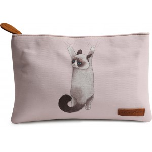 Buy Dailyobjects Grumpy Cat On Drapes Carry-All Pouch Medium - Nykaa