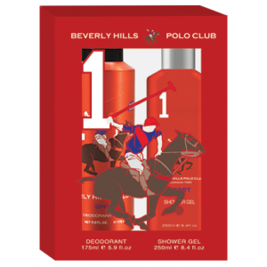 Buy Beverly Hills Polo Club Men's Deodorant And Shower Gel No.1 Gift Set - Nykaa