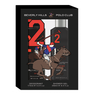 Buy Herbal Beverly Hills Polo Club Men's Deodorant And Shower Gel No.2 Gift Set - Nykaa