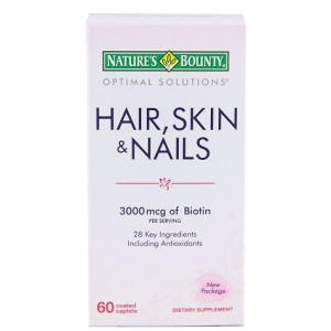 Buy Nature's Bounty Hair, Skin and Nails 3000 mcg of Biotin - Nykaa