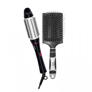 Buy Philips HP8630 Styling Brush & Curling Iron + Roots Professional Paddle Brush - Nykaa