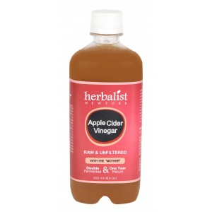 Buy Herbalist Apple Cider Vinegar, Raw, Unprocessed And Unrefined With Mother Vinegar - Nykaa