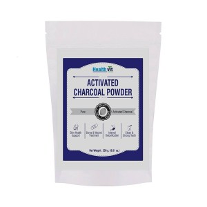 Buy HealthVit Activated Charcoal Powder - Nykaa