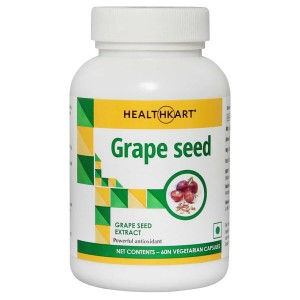 Buy HealthKart Grape Seed Extract 60 Capsules - Nykaa