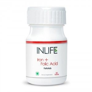 Buy INLIFE Iron Folic Acid, 60 Tablets For Prenatal Health Of Women - Nykaa