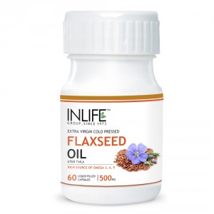 Buy INLIFE Flax Seed Extra Virgin Cold Pressed Oil, 60 Capsules For Joint Pain  - Nykaa