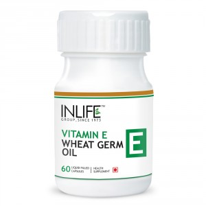 Buy Herbal INLIFE Vitamin E 400 IU Wheat Germ Oil, 60 Capsules For Hair Fall & Acne Marks  - Nykaa