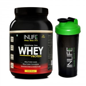 Buy INLIFE Whey Protein Powder 2 lbs (Vanilla Flavour) Body Building Supplement - Nykaa