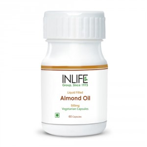 Buy Herbal INLIFE Sweet Almond Extra Virgin Cold Pressed Oil, 60 Veg. Caps For Pigmentation - Nykaa