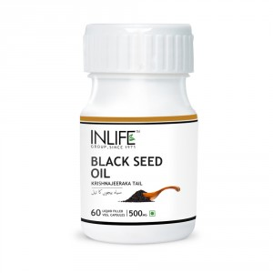 Buy INLIFE Natural Black Seed Extra Virgin Cold Pressed Oil, 500mg 60 Veg Capsules - Nykaa