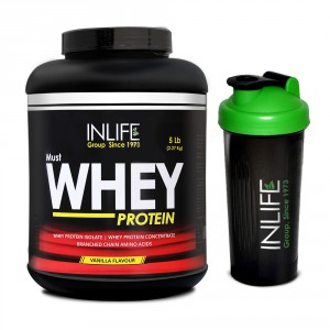 Buy Herbal INLIFE Whey Protein Powder 5 lbs (Vanilla Flavor) Body Building Supplement - Nykaa