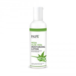 Buy INLIFE Natural Aloe Vera Neem Moisturizing Face Lotion Paraben Free - Nykaa