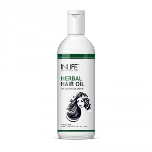 Buy INLIFE Herbal Hair Oil For Deep Nourishment Of Hair Roots Paraben Free - Nykaa