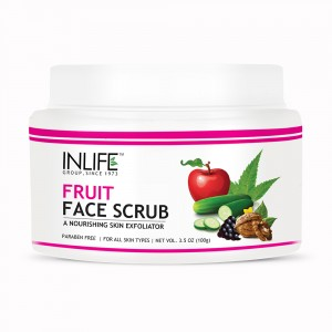 Buy INLIFE Natural Fruit Face Scrub Paraben Free Best Exfoliator For Acne  - Nykaa