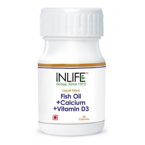 Buy INLIFE Fish Oil Omega 3, Calcium Vitamin D3 , 60 Capsules For Prenatal Joint Care - Nykaa