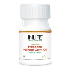 Buy Herbal INLIFE Lycopene Wheat Germ Oil, 30 Veg Capsules For Prostate & Cardio Health - Nykaa