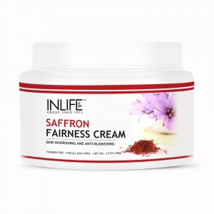 Buy INLIFE  Natural Saffron Fairness Cream For Blemishes Dark Circles And Spots - Nykaa