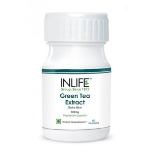 Buy INLIFE Green Tea Extract, 60 Veg Capsules With 70% Polyphenols For Weight Loss - Nykaa