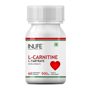Buy INLIFE L-Carnitine L-Tartrate 500mg (60 Veg. Capsules) - Nykaa