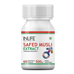 Buy INLIFE Safed Musli Extract 500mg (60 Veg. Capsules) - Nykaa