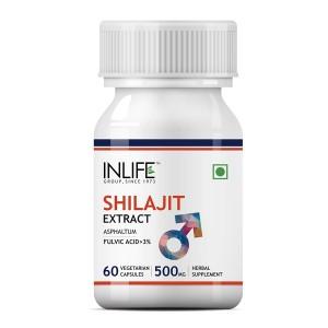 Buy INLIFE Shilajit Extract 500mg (60 Veg. Capsules) - Nykaa