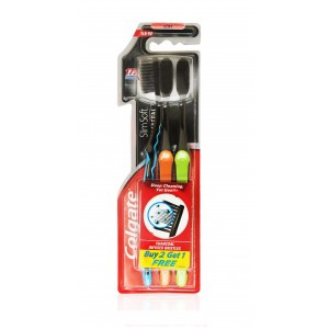 Buy Colgate Slim Soft Charcoal Toothbrush Buy 2 Get 1 Free - Nykaa