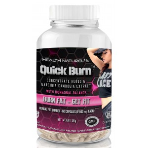 Buy Health Naturel's Quick Burn For Her With Hormonal Balance 500mg 60 Capsules - Nykaa