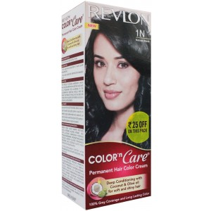 Buy Revlon Color n Care Permanent Hair Color Cream - Natural Black 1N (Rs 25 off) - Nykaa
