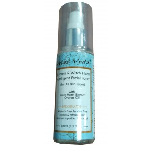Buy Aloe Veda Cypress & Witch Hazel Astringent Facial Toner - Nykaa