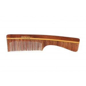 Buy Roots Rosewood Fine Teeth Comb with Handle For Fine Short Hair - Nykaa