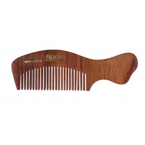Buy Roots Rosewood Fine Teeth Travel Comb with Handle For Short Hair - Nykaa