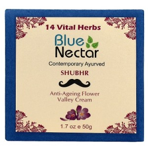 Buy Blue Nectar Anti Ageing Flower Valley Face Cream For Men - Nykaa