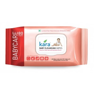 Buy Kara Baby Cleansing Wipes 80P - Nykaa