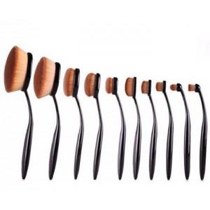 Buy Jeva Make Up Brush Set (10 Brushes) - Nykaa