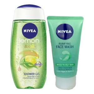 Buy Nivea Lemon & Oil Shower Gel + Free Purifying Face Wash - Nykaa