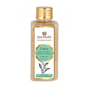 Buy Just Herbs I Mint Green Tea-Vetiver Nourishing And Toning Pack - Nykaa