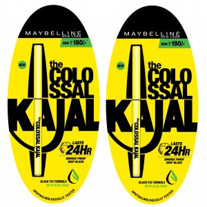 Buy Maybelline New York Colossal Kajal 24HR Pack Of 2 @20% Off - Nykaa
