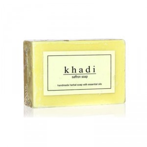Buy Herbal Khadi Natural Saffron Soap - Nykaa