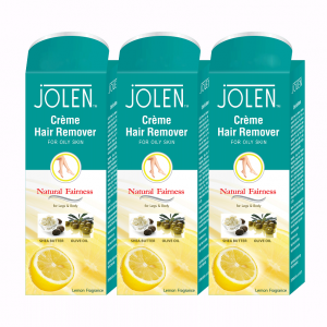 Buy Jolen Hair Remover Cream - Lemon Pack of 3 (20% Extra) - Nykaa